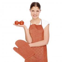 Bellatex Kötény és edényfogó Rita Virág narancssárga