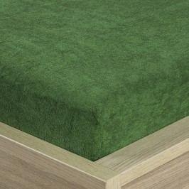 4Home frottír lepedő olivazöld, 180 x 200 cm