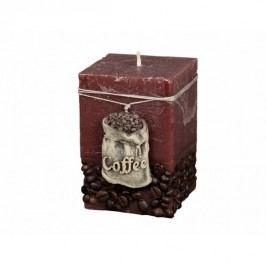 Coffee Bag Dekoratív gyertya barna, 10 cm