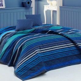 BedTex Marley ágytakaró kék, 220 x 240 cm, 2 x 40 x 40 cm