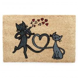 Macskák a városban kókusz lábtörlő, 40 x 60 cm