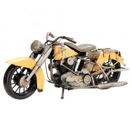 Indian dekorációs motorkerékpár modell, sárga Polcdíszek
