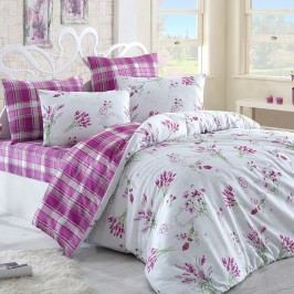 Lavente pamut ágynemű, rózsaszín, 140 x 200 cm, 70 x 90 cm