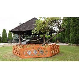 Kerti kis kerítés 2,3 m – teracota