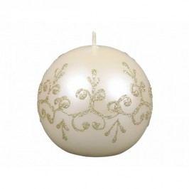 Karácsonyi gyertya Tiffany golyó, bézs