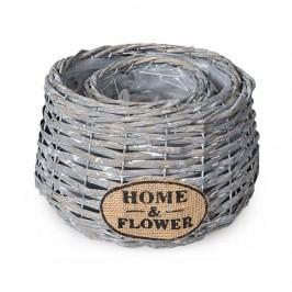 Home a Flower virágkaspó szürke, 2 db-os készlet
