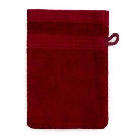 Jahu Bambusz mosdókendő bordó, 14 x 22 cm