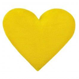 Bellatex Korall Szív micro kispárna sárga, 42 x 48 cm