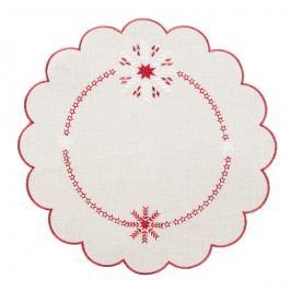 Hópelyhek karácsonyi abrosz, átm. 35 cm, 35 cm átmérőjű