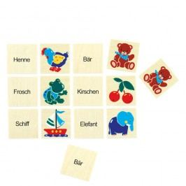 Bino Pexeso feliratokkal Kreatív játékok