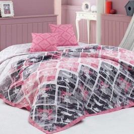 BedTex Riviéra ágytakaró rózsaszínű, 220 x 240 cm, 2x 40 x 40 cm Ágytakarók