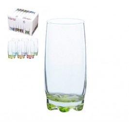 6 db-os színes pohárkészlet
