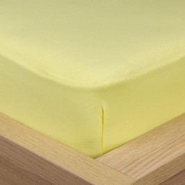 4Home Jersey lepedő elasztánnal sárga, 180 x 200 cm