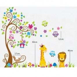 Öntapadós falmatrica, állatok színes erdeje