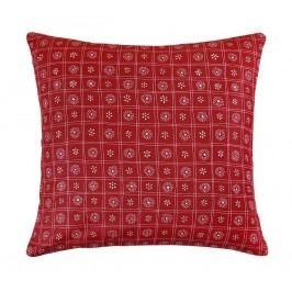 Rita párna, piros kockás, 40 x 40 cm