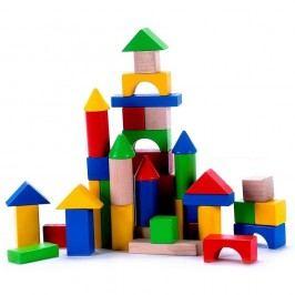 Fa építőkockák vödörben, 50 db Kreatív játékok