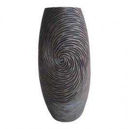 Váza természetes sötét színekben, 35 cm