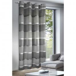 Giada függöny karikákkal, ezüst, 140 x 245 cm