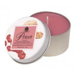 Price´s illatgyertya fém dobozban Gránátalma és dió
