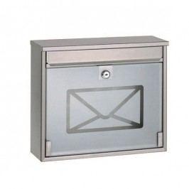 Acél postaláda edzett üveggel, 36 cm