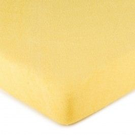 4Home frottír lepedő sárga, 180 x 200 cm