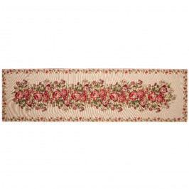 Virágcsokor hosszú asztalterítő, 33 x  120 cm