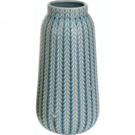 Porcelán váza Knit türkiz, 24,5 cm