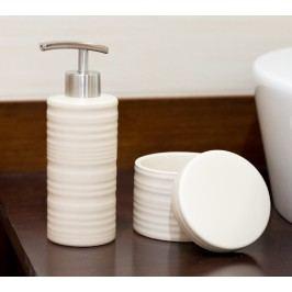 Folyékony szappan adagoló és doboz szett bézs