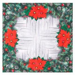 Mikulásvirág karácsonyi abrosz, 85 x 85 cm, 85 x 85 cm