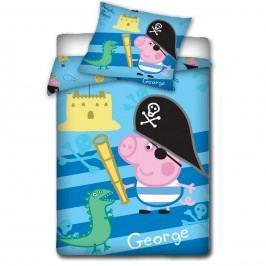 TipTrade Peppa Pig - George kalóz gyerek ágyneműhuzat, 140 x 200 cm, 70 x 80 cm
