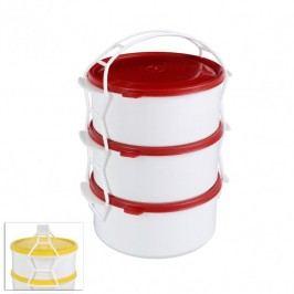 STAR Műanyag ételhordó 3 emeletes 1,2 l