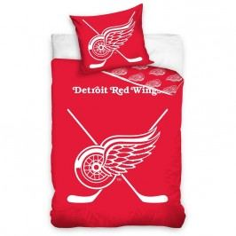 TipTrade NHL Detroit Red Wings  pamut foszforeszkáló, 140 x 200 cm, 70 x 90 cm