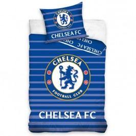 TipTrade FC Chelsea Stripes pamut ágyneműhuzat, 140 x 200 cm, 70 x 90 cm