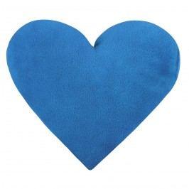 Bellatex Korall Szív micro kispárna kék, 42 x 48 cm