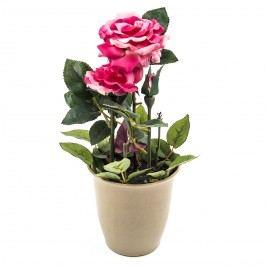 Mű cserepes rózsa virág rózsaszín