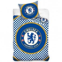 Tip Trade FC Chelsea Circle pamut ágyneműhuzat, 140 x 200 cm, 70 x 80 cm