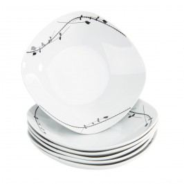 Domestic Londra 6 részes mély tányér készlet, 21,5 cm