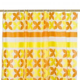 Koopman Pillangó zuhanyfüggöny narancssárga, 180 x 180 cm