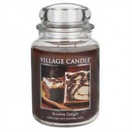 Village Candle illatgyertya üvegedényben Csokoládétorta - Brownies Delight, 397 g