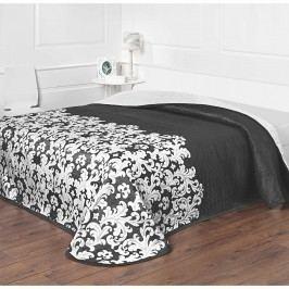 Forbyt Versaille ágytakaró fekete-fehér, 140 x 220 cm