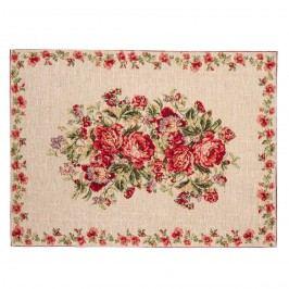 Rózsás tányéralátét, 33 x  48 cm