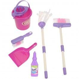 Takarító eszközök gyerekeknek Pink, 7 db-os készlet