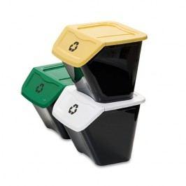 Ecobin szemétkosár szelektív hulladékgyűjtésre30 l 3 db