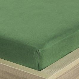 4Home jersey lepedő olivazöld, 160 x 200 cm, 160 x 200 cm