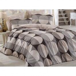 BedTex Zara pamut ágyneműhuzat barna, 140 x 220 cm, 70 x 90 cm, 140 x 220 cm, 70 x 90 cm