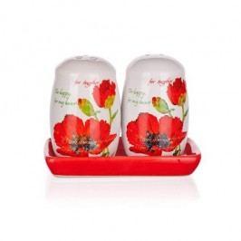 BANQUET Red Poppy só- és borstartó