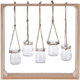 Fa keret poharakkal, 38 x 38 cm