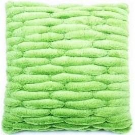 BO-MA Szőrös párnahuzat varrattal zöld, 45 x 45 cm