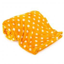 4Home Soft Dreams pléd Pötty sárga, 150 x 200 cm