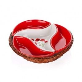BANQUET Red Poppy 4 részes tálaló tálka 601556RP
